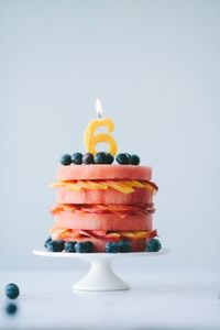 """Fresh Fruit """"Cake"""" from Not Without Salt - what a cool idea for a summer birthday party"""