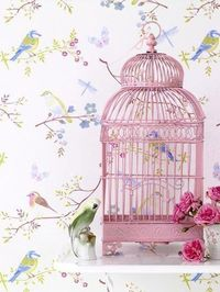 A gorgeously girly, cheerfully pink vintage style birdcage. #shabby #chic #birdcage #home #decor #wedding #pink