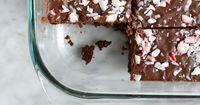 Candy Cane Brownies from scratch by