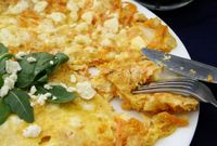 Omelette with Sweet Porato, Parmesan and Feta