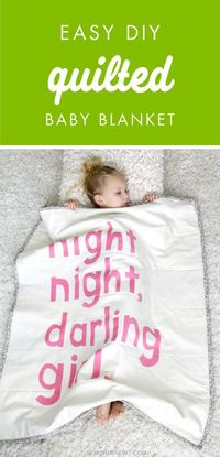 How cute is this Easy DIY Quilted Baby Blanket? Choose which phrase you want to decorate with and let's create this homemade blanket for your little one. Plus, it makes a charming gift idea for a baby shower!