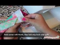 How To Bind A Quilt (with mitered corners and an invisible join)