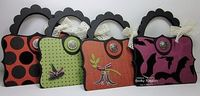 Stampin' Up! Top Note Purse Becky Roberts Halloween...these would make great gift card holder...birthday..christmas