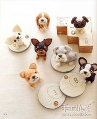 太��ˆ��†�Œ�Š�›毡�‹—�‹—家�— Cute Needle felted dogs