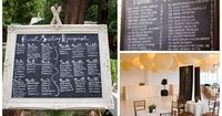 You don't need me to tell you that blackboards/chalkboards are a hot trend in weddings right now, but I have a feeling this one is going to run and run. It's pa