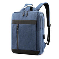 15.6 inch Laptop Bag with USB Charging Port High Capacity Multifunction Backpack School-Bag Travel-Bag Oxford