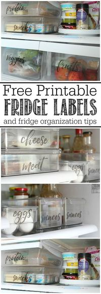 These free printable fridge labels and fridge organization ideas will help you get your fridge organized once and for all!