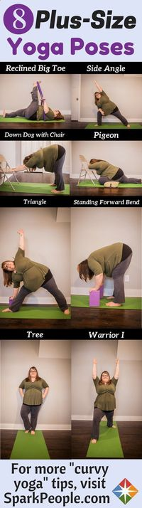 Easy Yoga Workout - You think you are too heavy for yoga? Think again! People of all shapes and sizes can do yoga, thanks to Curvy Yoga. Yoga is a great way to get in a good workout and take care of your health. Get your sexiest body ever without,crunches...
