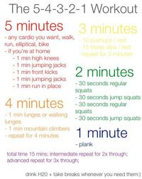 The 5-4-3-2-1 workout (15 minutes)
