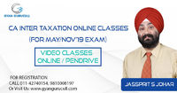 Gyan Gurucull is committed to offer CA Inter Taxation online classes at your home through our top faculty members. We are a brand name and using the latest technologies for those students who wants to take education at home for all levels of CA Exams.