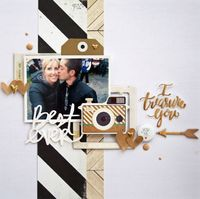 #papercrafting #scrapbook #layout I treasure you by harbourgal at