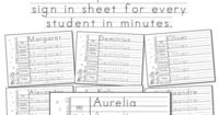 Free! Editable Print-Practice Weekly Sign In Sheets - Autumn Theme. You can use this Adobe PDF template to make a personalized sign in sheet for every student in the class in minutes. Great for keeping track of attendance in preschool and kindergarten. Fr...