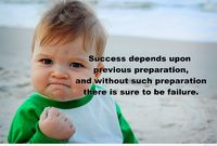 Success quote with a kid picture