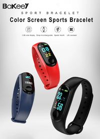 Bakeey Touch Screen Heart Rate Blood Pressure Monitor Tracker IP68 Long Standby Smart Bracelet