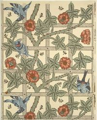 """'�'��""""Trellis'�'� wallpaper designed by William Morris 1862 and first produced in 1864. Via Wikimedia Commons"""