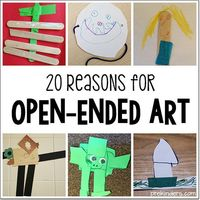 Reasons early childhood teachers should include open ended art in their program. What does open ended art mean? How do teachers and parents feel about open ende