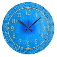 Vintage Inspired Blue and Gold Clocks