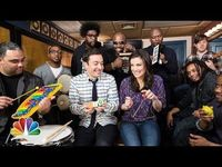 """�–� Jimmy Fallon, Idina Menzel & The Roots Sing """"Let It Go"""" from """"Frozen"""" (w/ Classroom Instruments) - YouTube"""