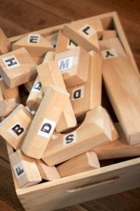 With this letter block activity, I built on George's current knowledge of letters and stuck them into something he always loves! Blocks! Last week for the Summe