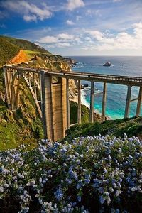 "*Bixby Bridge, Coast Highway, Monterey, California ""The state first began building Route 56, or the Carmel-San Simeon Highway, to connect Big Sur to the rest of California in 1919."" Wikipedia"