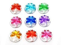 Pack of 30 Assorted Colours Coconut Tree Flatback Cabochons. 11mm Rhinestone Dome. £4.79