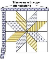 Big star quilt pattern...the one I've been looking for
