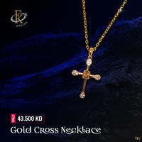 Express your faith with this beautiful gold cross necklace.  �–� Product type: Gold Necklace  �–� Price: 43.500KD �–� Weight: 2.050 Grams �–� Free Delivery �–� Karat: 18 Karat �œ…100% Guaranteed Authentic...
