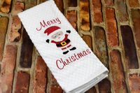 Embroidered Kitchen Towel - Merry Christmas Santa $6.99