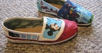 Custom Disney Toms! WANT (especially the blue one)