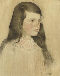Portrait of a young girl William Strang, R.A. (1859-1929)