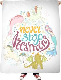 ROFB Never Stop Dreaming Fleece Blanket $65.00