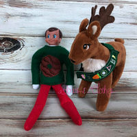 Elf Coconut Cookie Sweater and Reindeer Sash