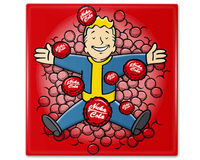 Fallout Vault Boy Nuka Cola Caps Ceramic Coaster $8.00