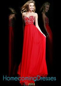 Affordable Red Sherri Hill 8545 Floral Beaded Long Chiffon Gown
