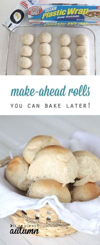 how to make roll in advance and bake them later. How to store roll or bread dough in the fridge or freezer for easy holiday baking.