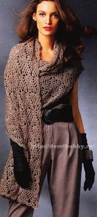Delicate Wrap - Free Crochet Diagram - (domihobby)