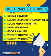 Digital Marketing is the best way to promote your business online. It helps reach new customers in a cost-effective way. So, come and start and Digital your Digital Journey with Codeware Limited.