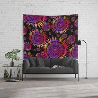 Psychedelic Mandalas Wall Tapestry.