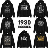 1930 Birthday Gift, Vintage Born in 1930 Hooded Sweatshirt 90th Birthday for men women for him her, Made in 1930 hoodies, 90 Year Old $23.99
