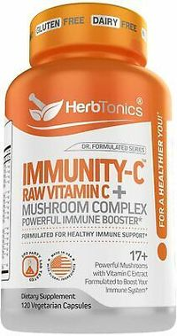 Mushroom Complex Immune Booster Vitamin C Turkey Tail Cordyceps Lions Mane