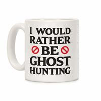 Who do you know who would love this? I Would Rather Be Ghost Hunting Ceramic Coffee Mug Handcrafted in the USA! $15.99
