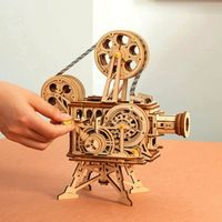 3D Wooden Puzzle,Mechanical Model Kits, Assembly CinemaScope Toy, Gift for Children and Adults,Hand Crank Film Projector $89.50