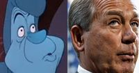 House Speaker John Boehner & the Caterpillar (Alice in Wonderland) -- Politicians Who Look Like Disney Characters (PHOTOS)