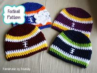 FREE pattern for NB size - Handmade By Holaday: Crochet Football Beanie