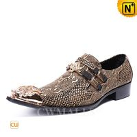 Custom Leather Shoes | CWMALLS® Mens Embossed Dress Shoes CW708212[Father's Day Gifts, Patented Product]