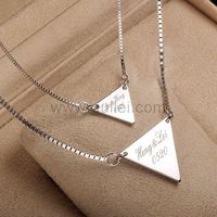 Gullei.com Custom Name Necklace Christmas Gift for Couple
