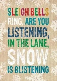 Walking in a Winter Wonderland! Probably My favorite Christmas song... just cause I sing it all the time. Along with all my other walking songs... ;)