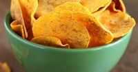Sweet Potato Microwaved Chips w/ Cinnamon and Fleur de Sel, from ShowFood Chef. Making microwave chips is easy, but time consuming. They turn out so good, it's totally worth it!