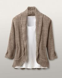 Scalloped crescent cardigan