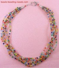 Crochet Beaded Necklace. How to Crochet with Beads